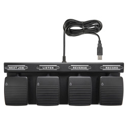 ECS-HFFP-OR7-4-W Four Function Hands Free Waterproof USB Pedal for Olympus ODMS R7 Software