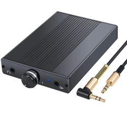 Mini Headphone Amplifier Portable Rechargeable Headset Earphone Headphone Audio Amplifier for PC Windows Mac Digital or Analog Players