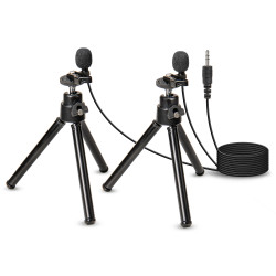 WordTieClip 3.5 mm Dual Omni-Directional Stereo Microphone