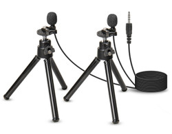 WordTieClip 3.5 mm Dual Omni-Directional 4Pole Microphone