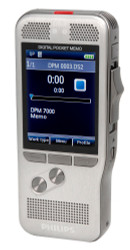 Philips Pocket Memo 7000 Digital Dictation Portable Recorder With SpeechExec Basic Dictate 2 Year Subscription