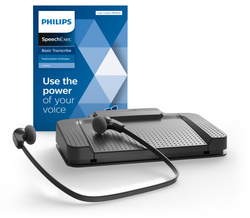Philips LFH7177-06 With SpeechExec Digital Basic Transcription Software 2 Year Subscription Kit
