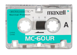 Maxell 3 Pack Microcassette Tapes MC60 MC-60UR Micro Cassettes - New