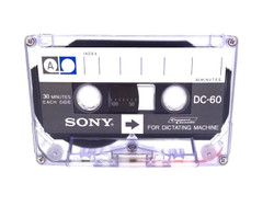 Sony DC-60 60 Minutes Standard Dictation Cassette Tapes 10 Pack - New