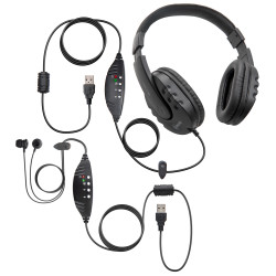 (2) Pack Travel and Home Transcription Headset Kit – WordMaster USB and WordSmith USB
