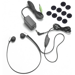 ECS Deluxe FlexFone FLX-10 3.5mm Mono/Stereo Under Chin Transcription Headset with 5 Pairs of Antimicrobial Sponges