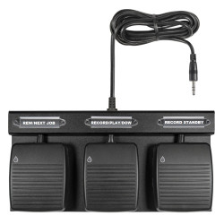 ECS-HFFP-8000-W Waterproof Three Button Hands Free Dictation Foot Pedal for Philips DPM8000 Series