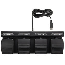 4 Button Hands Free Dictation Foot Pedal for Philips SpeechExec Pro