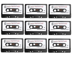 ECS DC 90 90 Minutes Standard Dictation Cassette Tapes 9 Pack - New