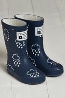 Grass & Air Little Kids Colour Revealing Wellies - Navy/Coral - £14.99