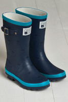 Grass &  Air Older Wellies - Navy/Coral - £18.99