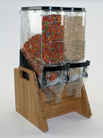 "Reno™ Cereal/Snack Bamboo Display Stand for (2) 6""x18"" (06108TR-MBS) Gravity Bins"