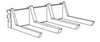 "SHELF BEAM KIT, 24"" WIDE BRACKET, 8BIN/17 ARM  FOR 8"" x 17"" TRADE FIXTURES SCOOP BINS"