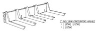 "SHELF BEAM KIT, 36"" WIDE BRACKET, 8BIN/17 ARM  FOR 8"" x 17"" TRADE FIXTURES SCOOP BINS"
