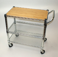 Mobile™ Foodservice Cart and Bamboo Top