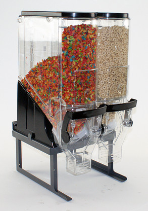 """Cereal Display Stand for (2) Trade Fixtures 06108TR-MBS 6""""x18"""" Gravity Bins"""