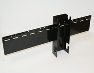 "24"" WALL HANGING BRACKET SYSTEM FOR 4"" TF GRAVITY BINS, BLACK, WALL MOUNT"
