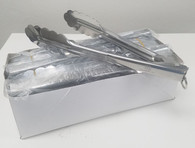 "(12) TONGS, 10"" STAINLESS STEEL, HEAVY DUTY"