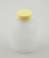 CASE OF (250) BOTTLES,1-LBROUND SQUEEZE,W/LID