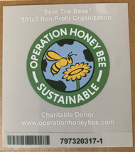 "Charitable Donor Clear Decal 5""X 5"""