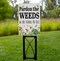 """Pardon The Weeds - Save The Bees - OHB Exclusive Sign   Place this sign in your yard during dandelion season, """"Spring - Early Summer."""" Bees are already under tremendous pressure along with a loss of habitat for food. Did You Know? Dandelions provide a necessary food source and if you spray your dandelions you are putting chemicals in your lawn that are killing bees. Did you also know that even if you spray you yard 2-3 times a year, dandelions will come back next year anyways?  Do you part and place this sign in your yard, business, or school."""
