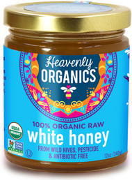 Rare White Himalayan Honey Organic, Raw, Sustainable, Health-Promoting, Fairly-Traded (12 oz. jars)