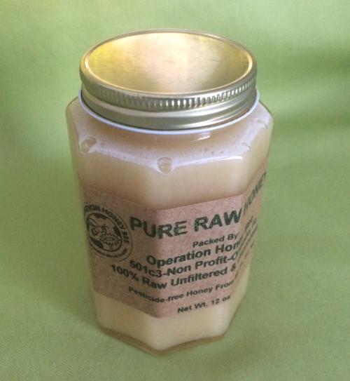 12 oz pure raw honey