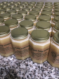 Case of 6 - 12 Oz Jars Pure Raw Honey - Free Shipping