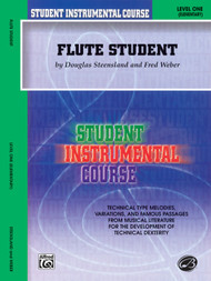 Student Instrumental Course: Flute Student - Level 1 by Fred Weber