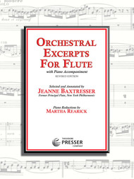 Orchestral Excerpts for Flute with Piano Accompaniment (Revised Edition) by Jeanne Baxtresser