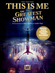 This is Me (The Greatest Showman) - Piano/Vocal/Guitar Sheet Music with Digital Audio Backing Track