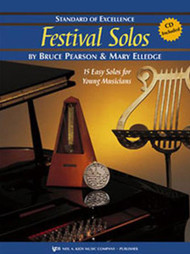 Standard of Excellence: Festival Solos Book 2 for B♭ Clarinet by Bruce Pearson & Mary Elledge (Book/CD Set)