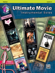Alfred's Instrumental Play-Along - Ultimate Movie Instrumental Solos, Level 2-3 for Clarinet (Book/CD Set)