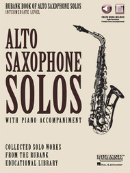 Rubank Book of Alto Saxophone Solos, Intermediate Level (with Online Media)