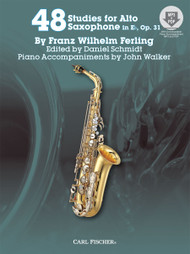 48 Studies for Alto Saxophone in E♭, Op. 31 by Franz Wilhelm Ferling (with MP3 + PDF Downloads)
