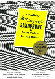 Advanced Jazz Conception for Saxophone by Lennie Niehaus (Book/CD Set)