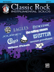 Alfred's Instrumental Play-Along - Classic Rock Instrumental Solos, Level 2-3 for Alto Sax (Book/CD Set)