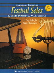 Standard of Excellence: Festival Solos, Book 2 for B♭ Tenor Sax by Bruce Pearson & Mary Elledge (Book/CD Set)