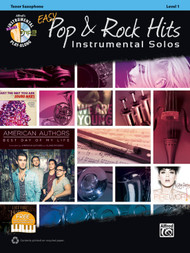 Alfred's Instrumental Play-Along - Easy Pop & Rock Hits Instrumental Solos, Level 1 for Tenor Sax (Book/CD Set)