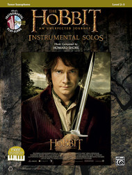Alfred's Instrumental Play-Along - The Hobbit: An Unexpected Journey Instrumental Solos, Level 2-3 for Tenor Sax (Book/CD Set)