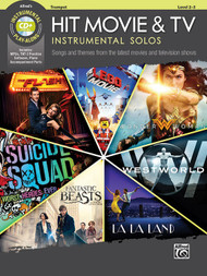 Alfred's Instrumental Play-Along - Hit Movie & TV Instrumental Solos, Level 2-3 for Trumpet (Book/CD Set)