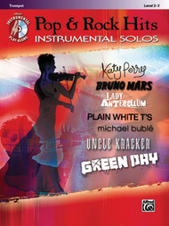 Alfred's Instrumental Play-Along - Pop & Rock Hits Instrumental Solos, Level 2-3 for Trumpet (Book/CD Set)