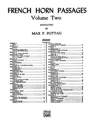 French Horn Passages extracted by Max P. Pottag, Volume 2 for French Horn