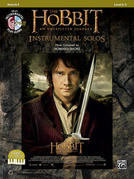 Alfred's Instrumental Play-Along - The Hobbit: An Unexpected Journey Instrumental Solos, Level 2-3 for Horn in F (Book/CD Set)