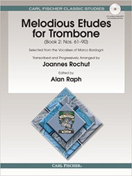 Melodious Etudes for Trombone, Book 2 (Nos. 61-90) by Joannes Rochut (Book/CD Set)