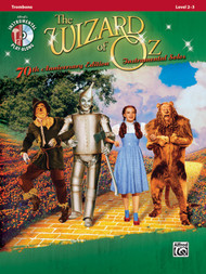 Alfred's Instrumental Play-Along - The Wizard of Oz Instrumental Solos 70th Anniversary Edition, Level 2-3 for Trombone (Book/CD Set)