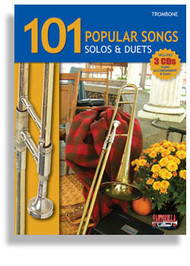 101 Popular Songs Solos & Duets for Trombone (Book/CD Set)