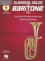 Hal Leonard Instrumental Play-Along - Classical Solos for Baritone T.C. by Philip Sparke (Book/CD Set)