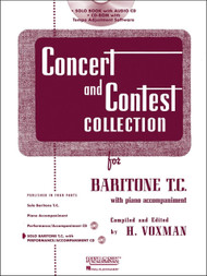 Concert and Contest Collection for Baritone T.C. (Rubank Educational Library No.294) by H. Voxman (Book/CD Set)