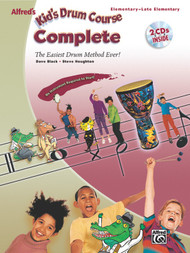 Alfred's Kid's Drum Course Complete (Elementary-Late Elementary) by Dave Black & Steve Houghton (Book/CD Set)